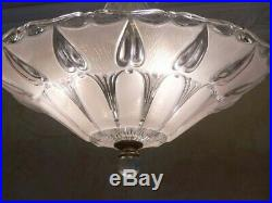179b Vintage antique arT DEco Ceiling Light Lamp Fixture Chandelier pink