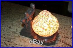 1920 Art Deco Nude Lady Table Lamp by APT N. Y. Works