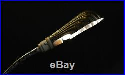 1920 GEC industrial L/E art deco chrome plated flexi stem lamp clam shell shade
