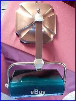 1920s ART DECO HANGOVER PIANO DESK LAMP With GREEN SHADE PITTSBURGH