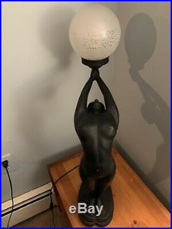 1920s Art Deco Inspired Nude Lady Lamp
