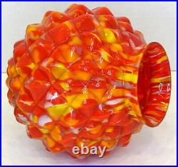 1930's ART DECO Antique CZECH End of Day Glass FIGURAL TABLE LAMP SHADE Globe