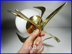 1930´s Art Deco Crown Solid Brass Table Lamp Ornament Working 100 %