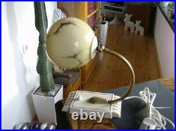 1930er Art Deco Marmor Kugel Glas Tischlampe oder Wandlampe TOP vintage lamp