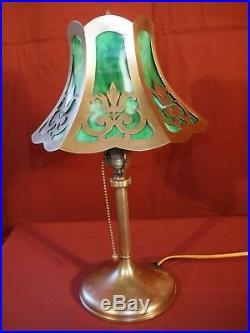 Art Deco Lamp 187 1930s Brass Art Deco Desk Lamp With Slag