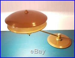 1940's Dazor Double-Shade Machine Age Mid Century Modern Art Deco Lamp Swivel