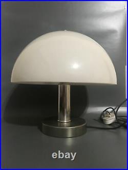 1970s Italian Chrome & Perspex Prova Mushroom Lamp Mid Century/Art Deco Vintage