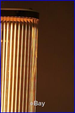 1 von 2 ART DECO Kinolampe Wandlampe Glasstäbe wall lamp