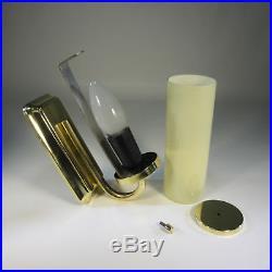 1 von 3 Art Deco Wandlampe Tubus Glasschirm 60er Lampe Bauhaus Lampe Wandleuchte