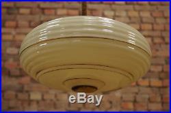 20er Art Deco Lampe Deckenlampe BAUHAUS Lamp Leuchte Hängelampe Glas ANTIK 30er