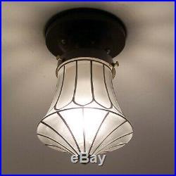 226b Vintage Antique ArT DEco Ceiling Light Lamp Fixture Fixture Porch Hall