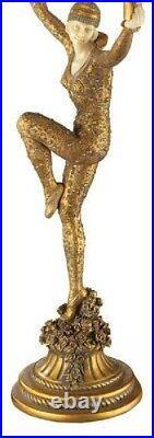 28 Art Deco Parisian Dancer Illuminated sculpture