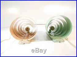 2 Vintage Art Deco Wall Sconce Orb Rings Metal Sputnik Light Fixture Lamp Saturn