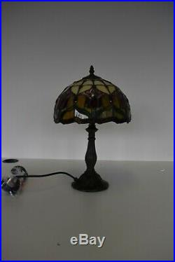 2 x HIGH QUALITY POPULAR TIFFANY STYLE ART DECO STAINED GLASS DESK TABLE LAMP