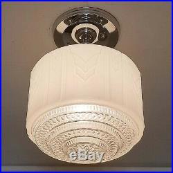 341 Vintage Antique art deco Glass Ceiling Light Lamp Fixture hall bath kitch