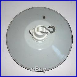 3x alte Emaille Lampe Hoflampe Fabriklampe Industrielampe Art Deco Bauhaus Email