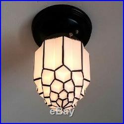543b Vintage Antique ArT DEco Ceiling Light Lamp Fixture Fixture Porch Hall