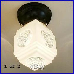 625b Vintage art deco 6 tiered Ceiling Light Lamp Fixture