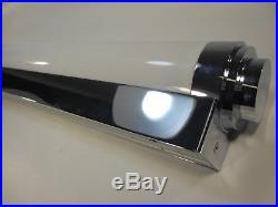 65cm Art Deco Wandlampe Deckenlampe Chrom Wandleuchte Tubus Röhre Spiegellampe