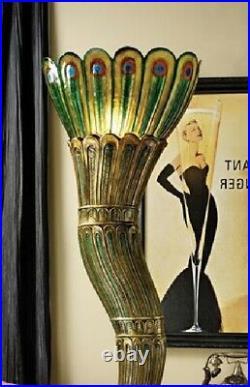 70 Art Deco Style Royal Peacock Illuminated Lamp Sculpture