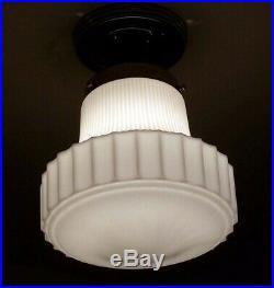 710 Vintage Antique art deco Ceiling Light Lamp Fixture bath Hall 1 of 3