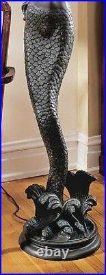 73 Art Deco Style Greek Goddess Offering Mermaid 73 Sculptural Floor Lamp