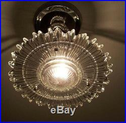 768 Vintage arT Deco Ceiling Light Lamp Fixture Glass Re-Wired 1 of 6
