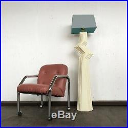 80's art deco plaster Zig Zag floor lamp