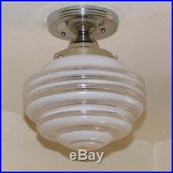 838 Vintage Antique arT Deco Ceiling Light Lamp Fixture Hall Bath