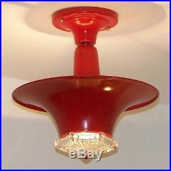 963 Vintage Antique 40's CEILING LIGHT Art Deco fixture lamp chandelier fixture