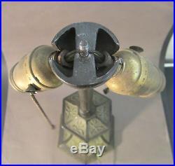 ALADDIN Art Deco Victorian Cast Iron Lamp Base Reverse Painted Glass NO SHADE