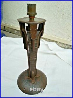 ANCIEN PIED DE LAMPE FER FORGÉ ART DÉCO MODERNISTE style Brandt Fournier Kiss