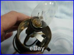 ANTIQUE ART DECO PERFUME LAMP withFIERY OPALESCENT GLASS GLOBE & ORNATE METAL BASE