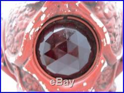 ART DECO 20's Fortune Teller Chalkware Incense Oil Boudoir Perfume Lamp Jewels