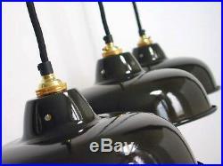 ART DECO Bauhaus Lampe LOFT Fabriklampe INDUSTRIELAMPE Werkstattlampe EMAILLE