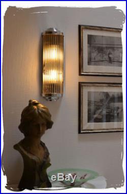 ART DECO LAMPE MURALE LAMPE CINÉMA CHROMÉ Applique Murale Métal Lumière Maison