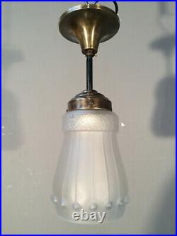 ART DECO Lampe Satinglas Ø12 Jugendstil DECKENLAMPE1920 TOP Flurlampe antik