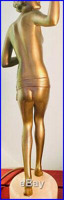 ART DECO STUNNING FIGURE LAMP ORIGINAL 1930s RE-WIRED SUPERB QUALITY FINE DETAIL