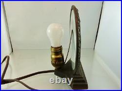 ART DECO WOMAN SILHOUETTE METAL LAMP working