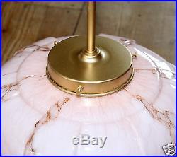 Alte Deckenlampe E 27 Lampe, Hängelampe, Rosa Marmoriert, Art deco