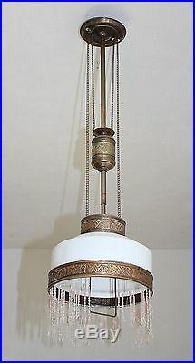 Alte Deckenlampe Zuglampe Art Deco Hängelampe 1-flammig zum restaurieren # 640