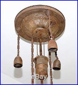 Alte Deckenlampe Zuglampe Art Deco Hängelampe 4 flammig zum restaurieren # 638