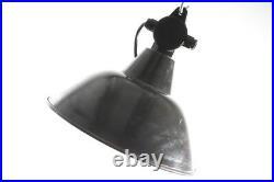 Alte Emaillampe Art Deco Fabriklampe Werkstattlampe Emaille Lampe Loft Stil