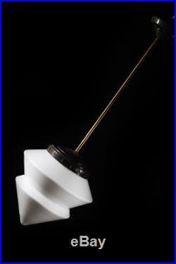 Alte Lampe Glas Art Deco Bauhaus Lampe Deckenlampe Pendelleuchte