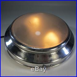 Alte Lampe RB / DB Bahnlampe Zug Deckenlampe Art Deco Industrielampe Alurahmen