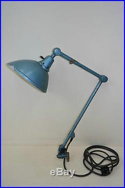 Alte Midgard Gelenkarmlampe, Werkstattlampe, Art Deco, Bauhaus, DDRP Design