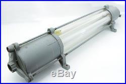 Alte explosionsgeschützte Fabriklampe Loft Ex-Lampe, Neonlampe, Bauhaus Art Deco