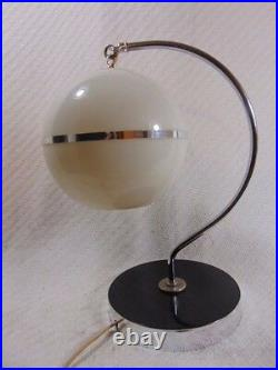 Amazing Antique Art Deco Funky Modern Style Hanging Globe Table Lamp Chase