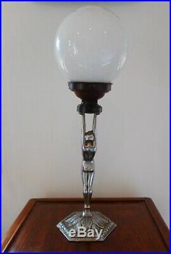 An Original Art Deco Chrome Diana Lamp