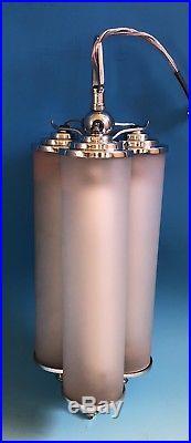 An Original English Art Deco Centre Light / Lamp By Crystex
